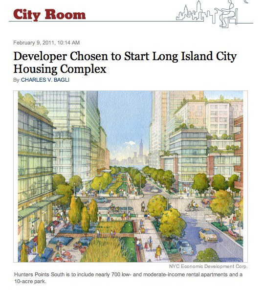 Bloomberg Unveils Hunters Point South Plans
