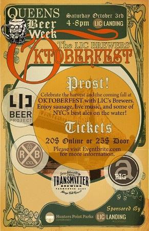 LIC Brewers' OKTOBERFEST  - Saturday October 3 -- CANCELLED