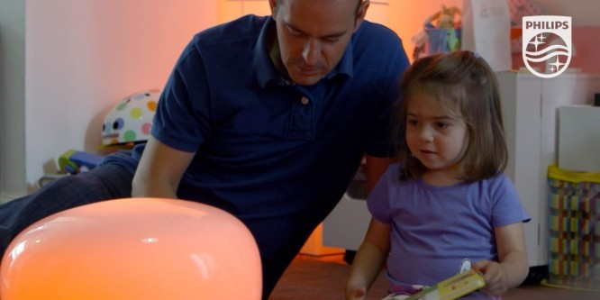 Philips Hue lights transform a little girl's day – an inspired home